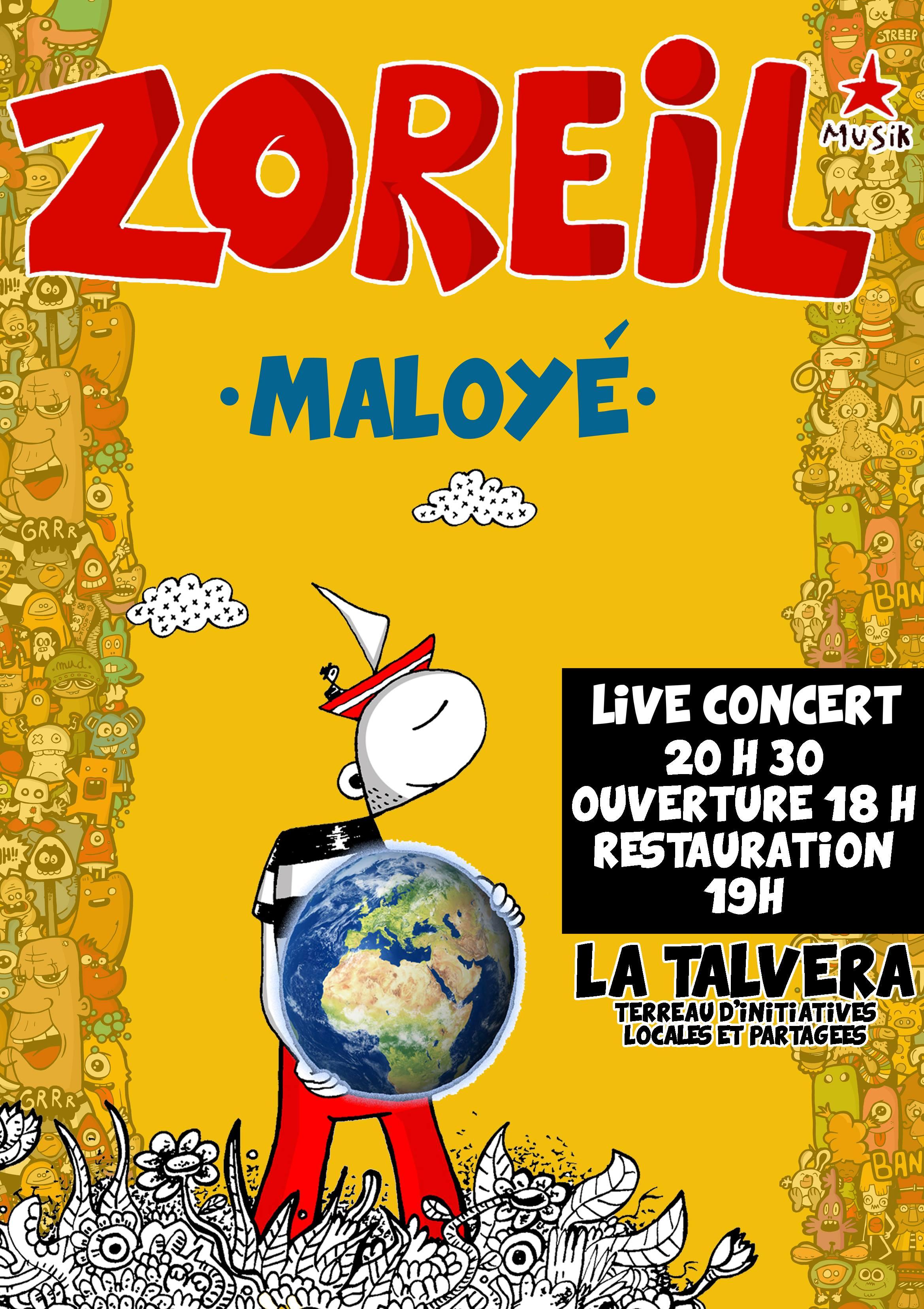 """Concert """"ZOREIL"""" - Fusion Maloya - le 13 Décembre :)"""