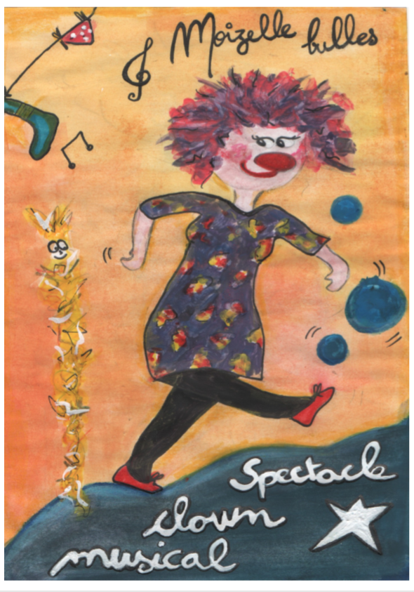 MOIZELLE BULLES  : Spectacle de  clown  musical :)