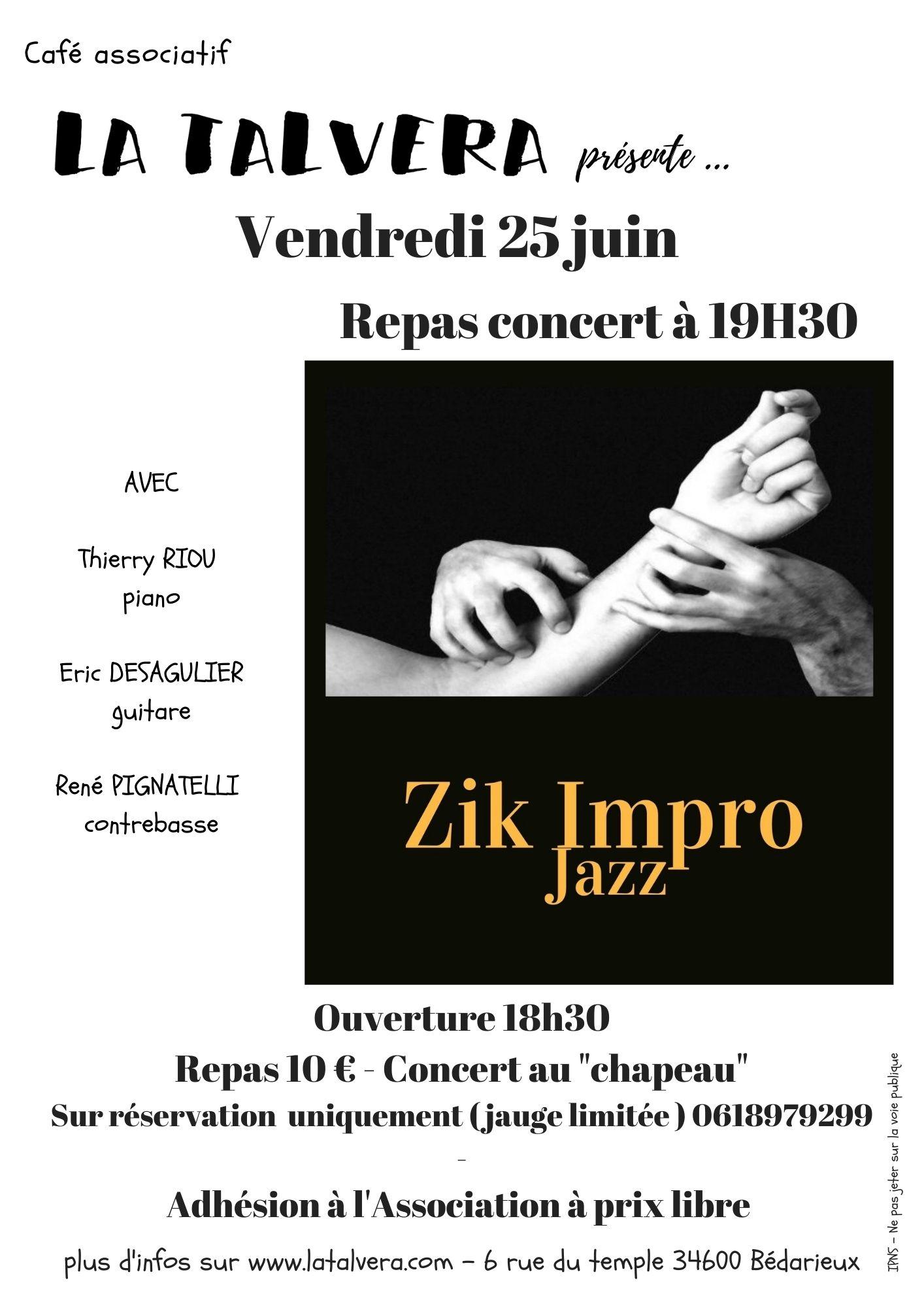 Soirée jazz avec Zik Impro